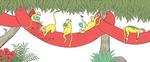빨간 코끼리 위 원숭이와 토끼…동물과 숫자 배워요
