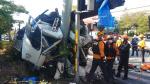 부산 강서구 도로서 트럭 추돌로 운전자 사망